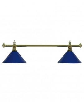 Luminaire de Billard Louxor - Bleu 2 globes