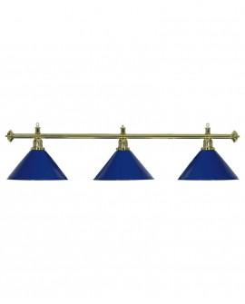 Luminaire 3 Globes louxor bleu