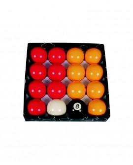 Billes 57.2mm pour billard Pool Anglais