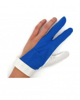 Gant de billard Bleu et Blanc