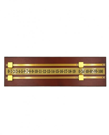 Compteur de points de billard Noyer