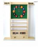 Porte Queues Billard Horloge Et Compteur teinte chêne clair en Bois - 97cm x 73cm