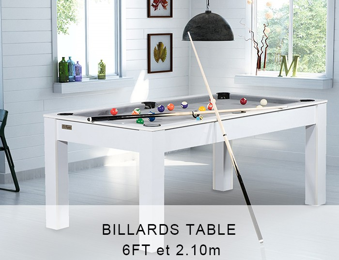 Billards Table 1.90m et 2.10m